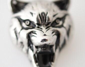 1 PC 18MM Fox Tiger Cat Silver Candy Snap Charm KB7014 CC0150