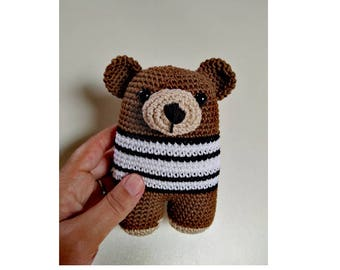 Brown bear crochet amigurumi Ydekado