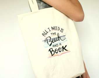 "Tote bag embroidered ""Beach day"""