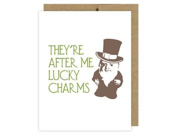 Unique Irish cards  Lucky Charms Lovers, Boyfriend, Girlfriend, Partner, Birthday, Anniversary Cards by U Lucky Girl - Etsy