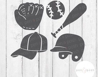 Baseball SVG - Baseball Clipart - Baseball TShirt SVG - Baseball cut files - Glove SVG - Cap Svg Youth Baseball Cut File - Baseball Clipart