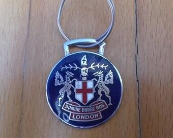 Vintage London keychain-DOMINE DIRIGE NOS