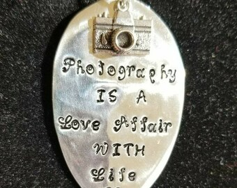 Stamped Spoon Necklace.  Photography is a LOVE affair with Life