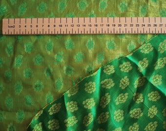 Silk sateen, paisley patterned brocade weave