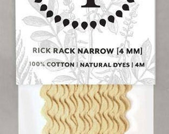 Naturally Dyed 4mm Rick Rack-Soft Yellow