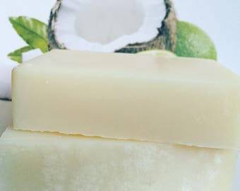 Uplift Aromatherapy Pure Coconut Oil Moisturizing Soap - Coconut Lime Ylang Ylang Scented, Handmade, Luxury, Natural, Vegan