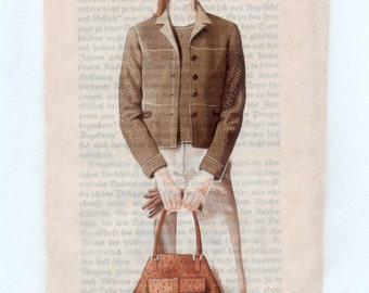 Fashion Illustrations Printed On Tissue Paper - Great for Layering in Collage, Mixed Media, Crafts