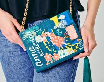 Anna Karenina book-clutch