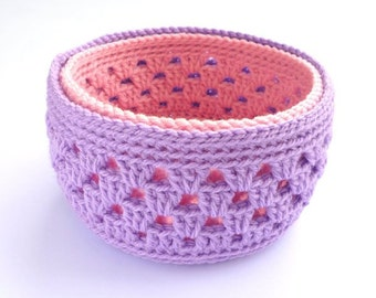 Crochet Basket Pattern, Crochet Round Basket, Crochet Bowl, Crochet Pattern 006, Instant Download