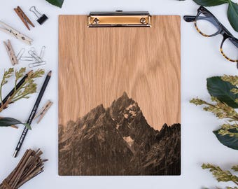 Grand Teton 1048 NP, US National Parks, Wood Clipboard, Natural Wood