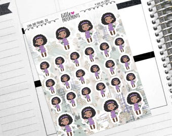 """ZOE - """"I Love My Coffee!"""" Decorative Planner Stickers from the Little Luna and Friends Collection Series"""