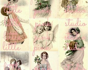 Vintage Victorian Christmas  collage sheet (printable, digital download)
