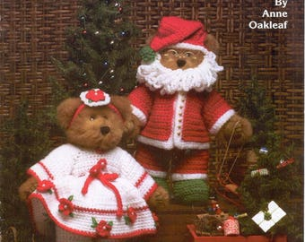 Christmas Day Craft E-Book /Mr & Mrs Santa Claus to Knit,Crochet,Christmas gift/ PDF / Pattern / Instant Download.