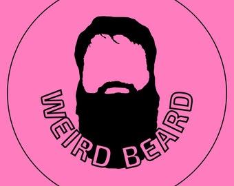 Weird Beard button