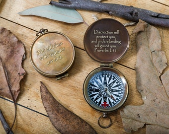 Engraved Compass, Personalized Compass, Christmas Gift, Groomsmen Gift, Valentines Day Gift, Man Gift, Men Gift, Women Gift, Nautical Gift