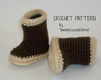 CROCHET  PDF PATTERN  for Alaskan Style Rain Boots Xtra Tuff Style