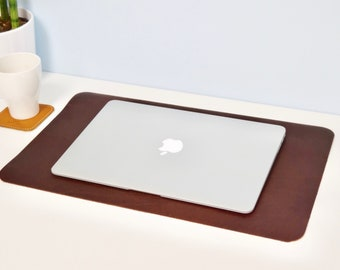 LEATHER DESK MAT   Personalized Leather Desk Pad, Laptop Desk Mat, Leather  Table Mat