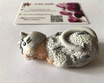 baby cat polymer clay