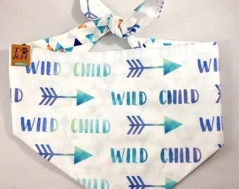 WILD CHILD Dog Bandana // Geometric // Tie On // Bow Tie // Cute Dog Bandana //Puppy Bandana // Dog Bandanas // Summer Dog Bandana