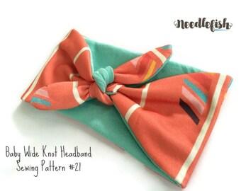 BABY KNOT HEADBAND Pattern- Reversible Headband Pattern - Wide Headband Pattern - Infant headband pattern - toddler headband pattern - adult