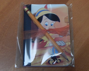 Up cycled MINI Composition Book Disney Pinocchio
