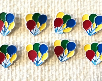 Vintage *JHB* Balloon  Buttons  Set of 8. Great for Baby Children, Decoration,Sewing, Craft supplies, etc.