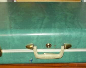 Mid Century 1950's Train Case Samsonite Luggage Suitcase Hard Shell Carry On Bag