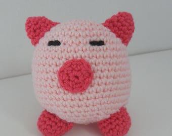 pig - amigurumi - animal - crochet - pink