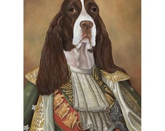 Springer, Prints, Springer Spaniel, Dog Mom Gifts, Pet Lovers Decor, Great Dog Gift Sir James
