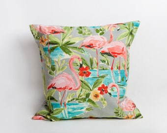 Flamingo Outdoor Pillows, Flamingo, Outdoor Pillow, Pink Pillow, Florida, Indoor Outdoor, All Weather, Designer Pillow, Tropical Decor
