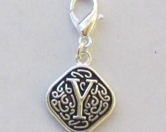 Vintage  Letter Y  Dangle  Lobster Claw for Necklace - Bracelets - Key Chains