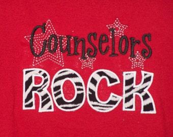 Counselors Rock shirt School Support Staff shirt