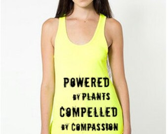 Vegan Tank 'Powered by Plants, Compelled by Compassion' - Unisex