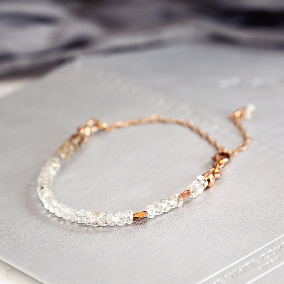 White Topaz Bracelet - November Birthstone Jewellery