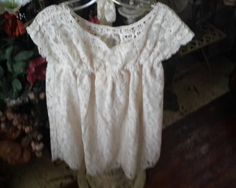 Baby girl all cream lace dress