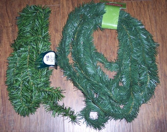 Pine roping garland,16-25 ft,2.5 inch wide,wired,holiday crafting,wreath making,set building
