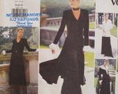 Fancy Blouse Pattern, Neck Ruffle, Cuffs, Dress, Button Front, Wide Leg Pants, Jacket, Vogue 1290 UNCUT Size 6 8 10
