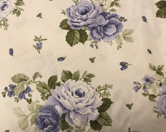 Floral Blue Fabric