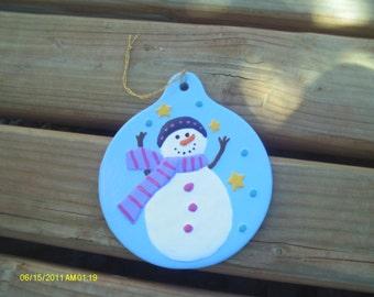 Snowman Globe Ornament