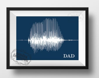 8x10 5 x7 11x 14 4x6 DAD - Voiceprint - Soundwave Printable art | birthday | father's day | christmas -  DIGITAL FILE