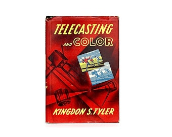 Vintage Television Decor - Color Television Book - Vintage Electronics - Television History - Geek Gift - Telecasting Color - Kingdon Tyler