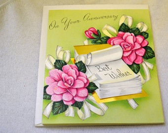 1950s NOS Anniversary Card with Envelope