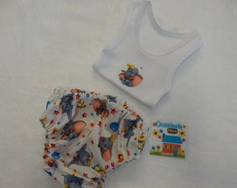Classic Dumbo the Elephant Nappy Diaper Cover Set Size Newborn - More Sizes Available