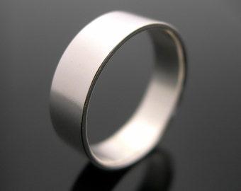 Silver Ring, Plain Silver Band, Mens Band