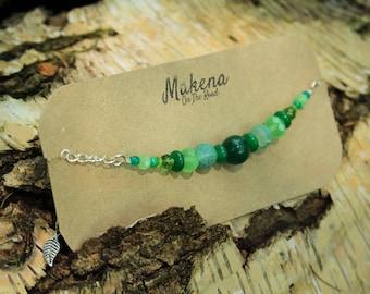 Shades of Green Bracelet - Heart healing and Balance