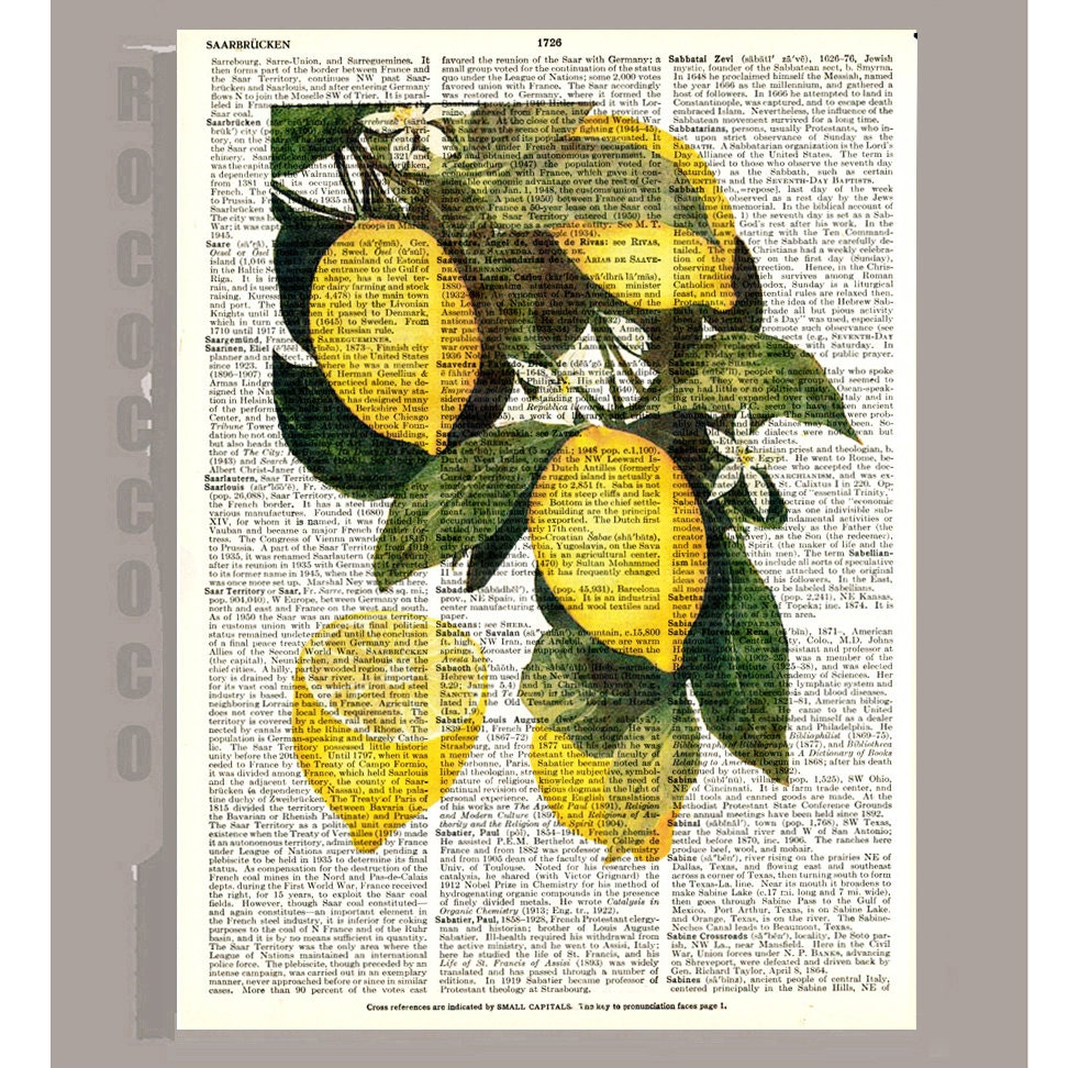 Kitchen Print Kitchen Wall Art Purple Kitchen Decor Gratitude: Beautiful Lemon Illustration Print On Vintage Dictionary Book