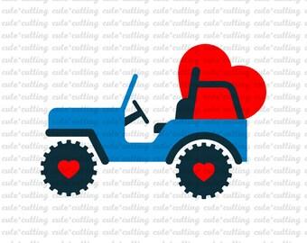 Boy Valentine Svg Valentine Truck Svg Valentines Day Svg