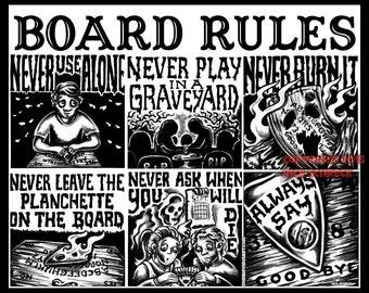 Ouija Board Rules  shirt XL