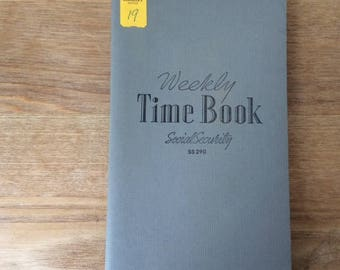 Vintage UNUSED Payroll Weekly Time Book SS 290, Social Security and Tax Deduction, Table of Hourly Wages