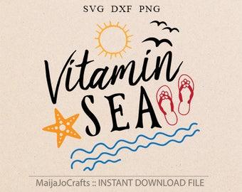 Summer SVG Beach svg Sea svg Summer designs svg Star fish svg Vitamin sea svg files for Cricut Files for Silhouette files instant download